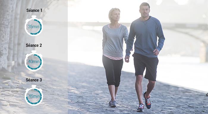 Perdre le poids avec la marche